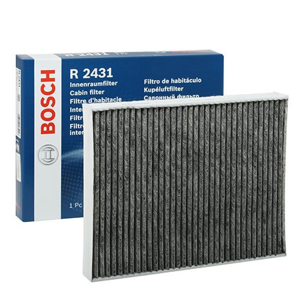R2431 BOSCH Aktivkohlefilter Breite: 219mm, Höhe: 30mm, Länge: 278mm Filter, Innenraumluft 1 987 432 431 günstig kaufen