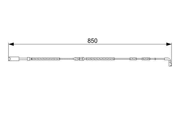 Verschleißsensor Bremsbelag 1 987 473 030 BMW X1 2010