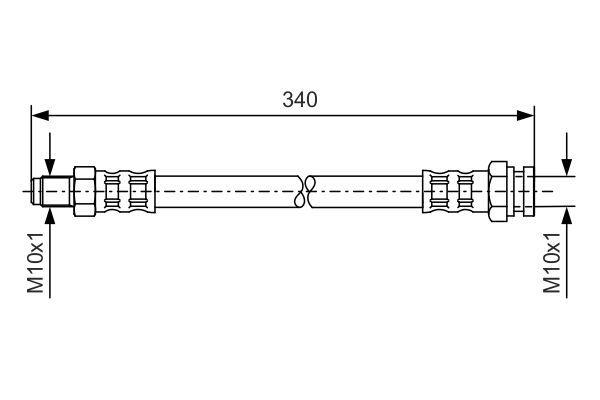 SMART FORTWO 2020 Rohre und Schläuche - Original BOSCH 1 987 476 121 Länge: 311mm, Innengewinde: M10x1mm