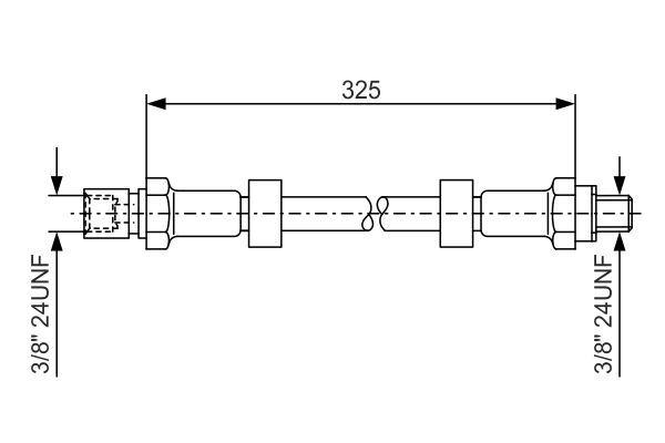 Achetez Conduites BOSCH 1 987 476 130 (Longueur: 324mm, Filetage extérieur: 3/8mm, Filetage intérieur 2: 3/8mm) à un rapport qualité-prix exceptionnel