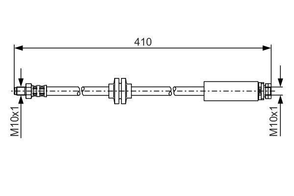 MAZDA 5 2014 Rohre und Schläuche - Original BOSCH 1 987 481 022 Länge: 385mm, Außengewinde: M10x1mm, Innengewinde 2: M10x1mm