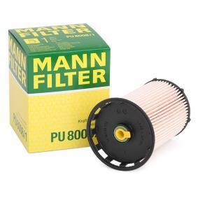 PU 8008/1 MANN-FILTER Výška: 123mm Palivovy filtr PU 8008/1 kupte si levně