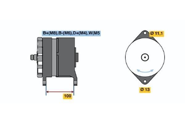 6 033 GB3 020 BOSCH Lichtmaschine für VOLVO online bestellen