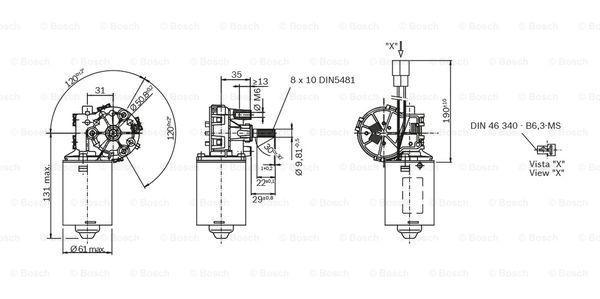 MOSKVICH 427 1976 Anhängevorrichtung - Original BOSCH F 006 B20 093