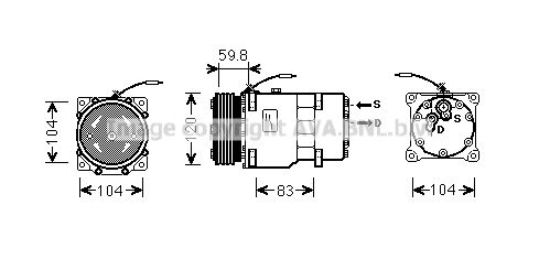 Original RENAULT Klimakompressor RTAK402