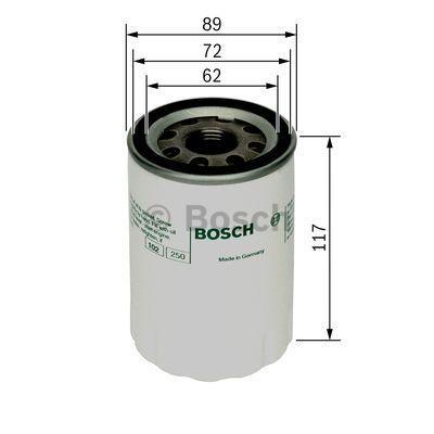 Original HYUNDAI Oil filter F 026 407 018