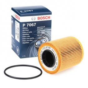 P7067 BOSCH Filtereinsatz Ø: 65mm, Höhe: 100mm, Höhe 1: 77mm Ölfilter F 026 407 067 günstig kaufen