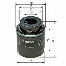 P7079 BOSCH Ø: 78mm, Höhe: 80mm, Höhe 1: 79mm Ölfilter F 026 407 079 günstig kaufen
