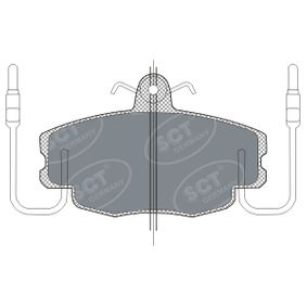 21463 SCT Germany Vorderachse, inkl. Verschleißwarnkontakt, mit Anti-Quietsch-Blech Höhe: 63,5mm, Breite: 100mm, Dicke/Stärke: 17,9mm Bremsbelagsatz, Scheibenbremse SP 189 PR günstig kaufen