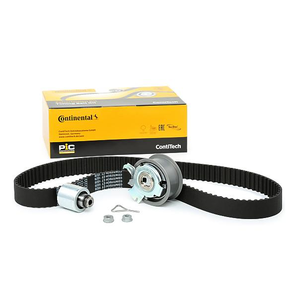 Car spare parts VW FOX 2016: Timing Belt Set CONTITECH CT1028K3 at a discount — buy now!