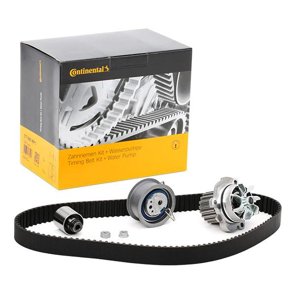 VW GOLF 1998 replacement parts: Water pump and timing belt kit CONTITECH CT1028WP5 at a discount — buy now!