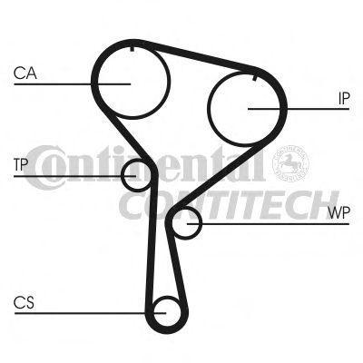 T5-165-10 Contitech Courroie Timing Belt