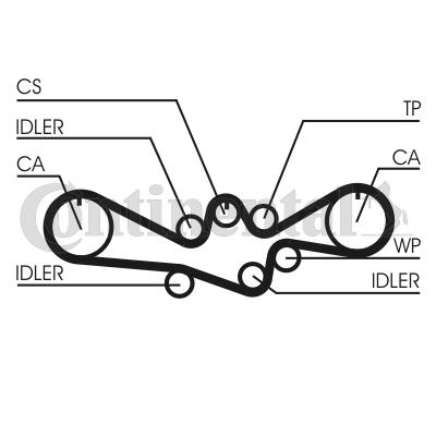 CONTITECH: Original Zahnriemen CT1050 (Breite: 27mm)