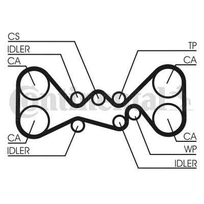 CONTITECH: Original Steuerriemen CT1058 (Breite: 30mm)