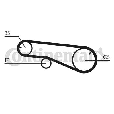 CT1039 CONTITECH Zähnez.: 65 Breite: 12,7mm Zahnriemen CT1109 günstig kaufen