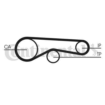 CONTITECH: Original Synchronriemen CT1118 (Breite: 20mm)