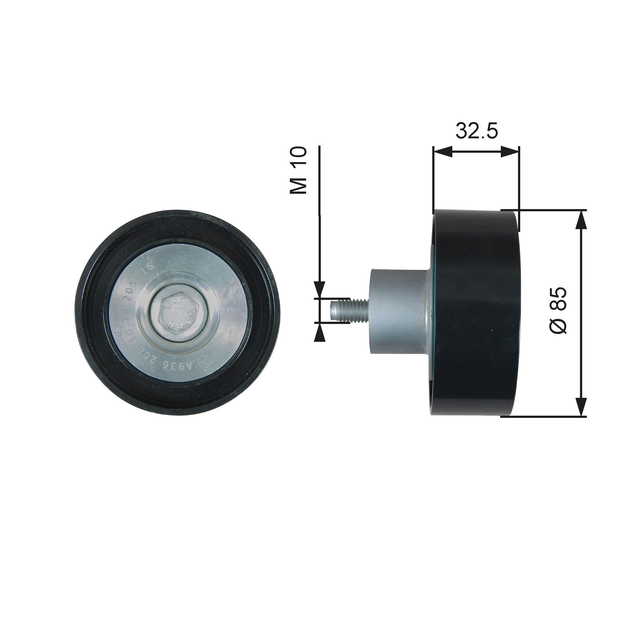 Poulie renvoi / transmission, courroie trapézoïdale à nervures GATES T36629 : achetez à prix raisonnables