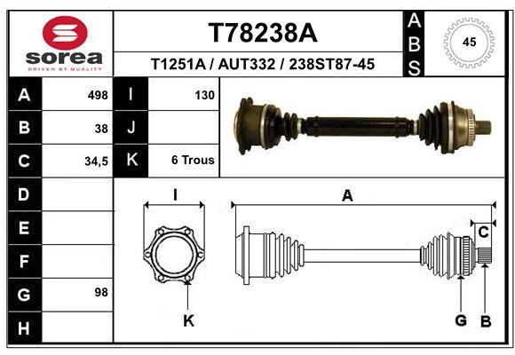 Antriebswellen EAI T78238A