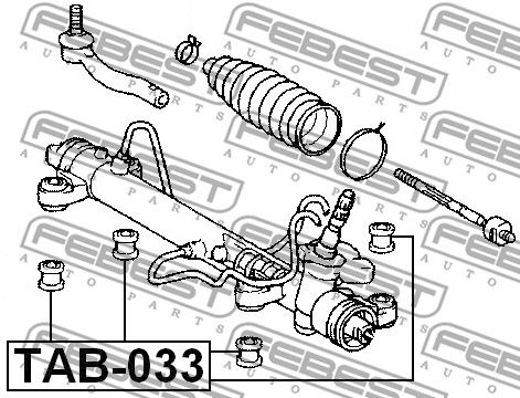 FEBEST   Lagerung, Lenkgetriebe TAB-033
