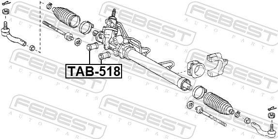 FEBEST   Lagerung, Lenkgetriebe TAB-518