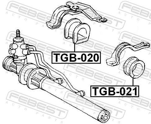 FEBEST | Lagerung, Lenkgetriebe TGB-020