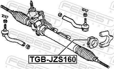 FEBEST   Lagerung, Lenkgetriebe TGB-JZS160