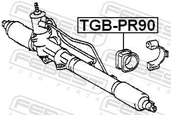 FEBEST | Lagerung, Lenkgetriebe TGB-PR90