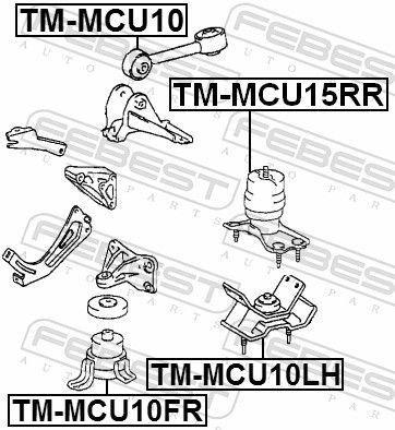 FEBEST   Lagerung, Automatikgetriebe TM-MCU15RR