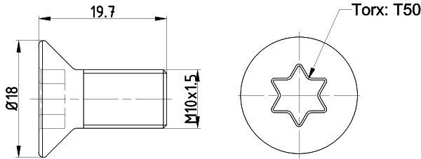 TEXTAR: Original Schraube, Bremsscheibe TPM0016 ()