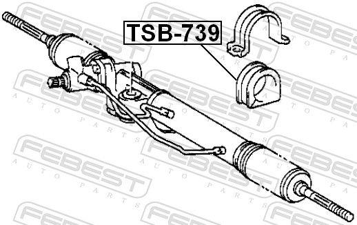 FEBEST | Lagerung, Lenkgetriebe TSB-739