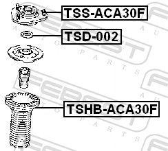 FEBEST | Supporto, Ammortizzatore TSD-002