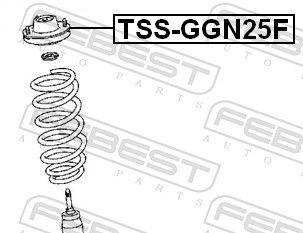 FEBEST   Lagerung, Stoßdämpfer TSS-GGN25F