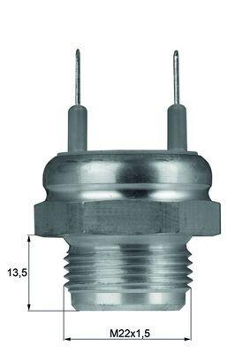 Original BMW Temperaturschalter, Kühlerlüfter TSW 7D