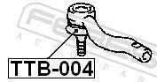 TTB-004 Reparatursatz, Spurstangenkopf FEBEST - Markenprodukte billig