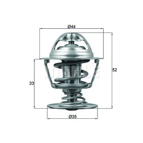 72402042 MAHLE ORIGINAL Öffnungstemperatur: 88°C, mit Dichtung Thermostat, Kühlmittel TX 173 88D günstig kaufen