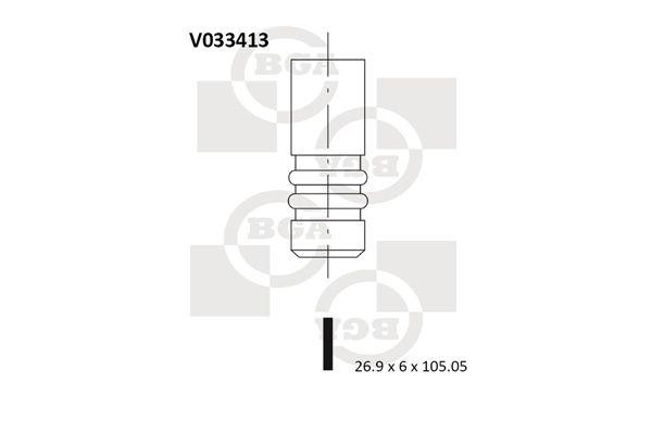 Αγοράστε Βαλβίδα εισαγωγής V033413 οποιαδήποτε στιγμή