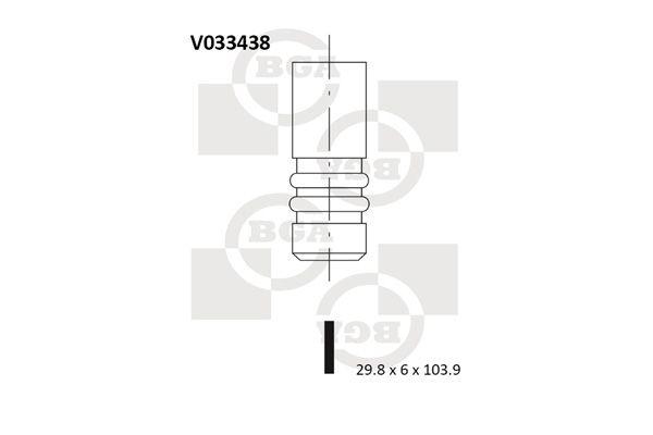 BGA: Original Auslaßventil V033438 ()