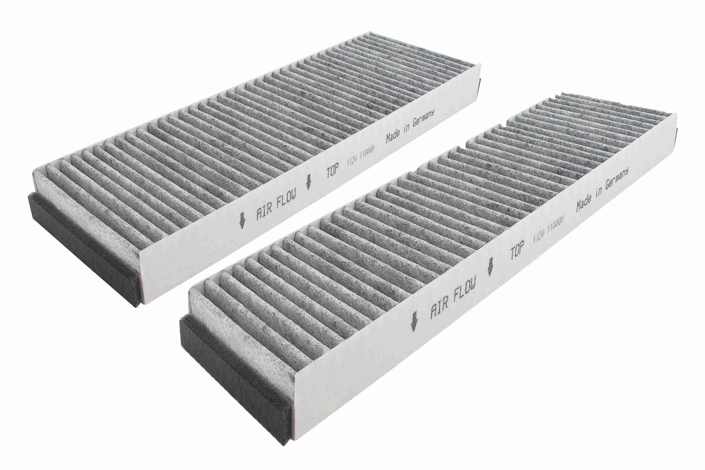 AUDI R8 2020 Innenraumluftfilter - Original VEMO V10-31-5002 Breite: 99mm, Höhe: 30mm, Länge: 307, 312mm