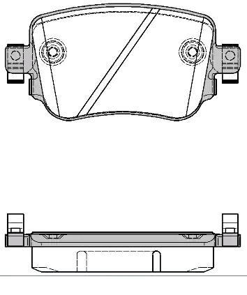 Original VW Bremsbelagsatz Scheibenbremse V10-9890