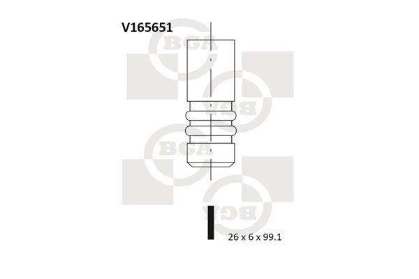 BGA: Original Auslaßventil V165651 ()