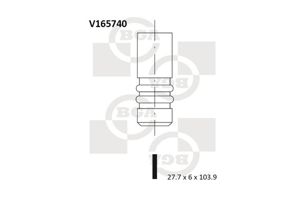BGA: Original Einlaßventil V165740 ()