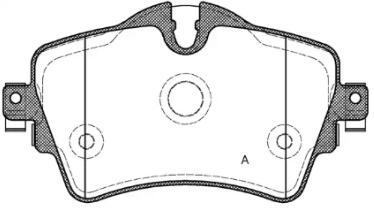 Bremsbelagsatz Scheibenbremse VAICO V20-3125