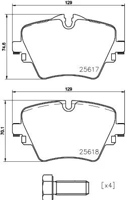 Bremsbelagsatz Scheibenbremse VAICO V20-3127
