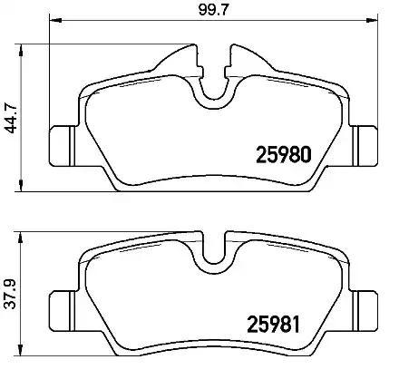 Original MINI Bremsbelagsatz V20-3132