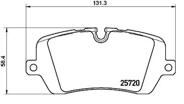 Original LAND ROVER Bremsbelagsatz V48-0215