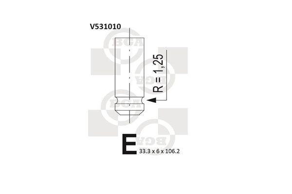 OE Original Einlaßventil V531010 BGA