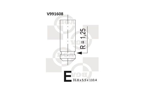 BGA: Original Auslaßventil V991608 ()