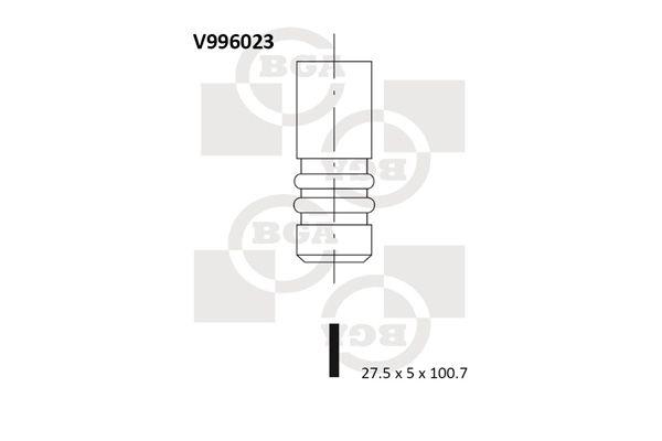 Original Изпускателен клапан V996023 Опел