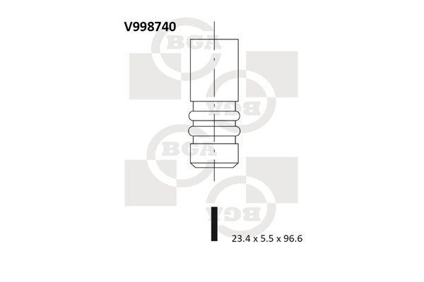 Original Изпускателен клапан V998740 Фиат