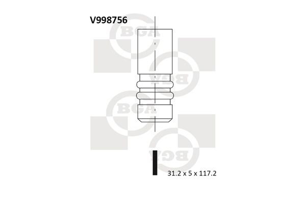 Original Всмукателен клапан V998756 Фиат